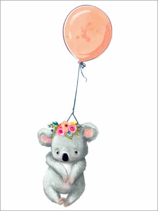 Canvas print  Koala with Balloon - Kidz Collection