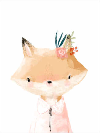 Canvas print  Miss Fox - Kidz Collection
