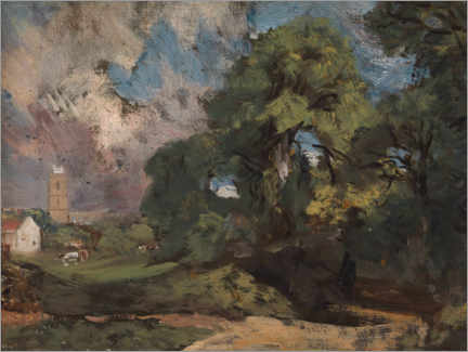 Wall sticker  Stoke by Nayland - John Constable