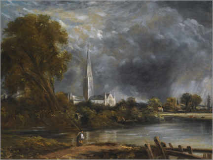 Premium poster  Salisbury Cathedral from the meadows - John Constable