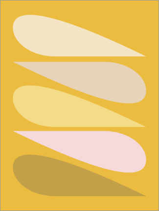 Gallery print  Geometric shapes - apricot and birch