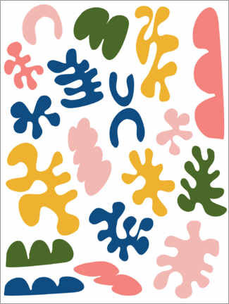 Premium poster  New Age Matisse - apricot and birch