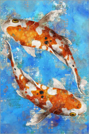 Wall sticker  Koi Fishes - Durro Art