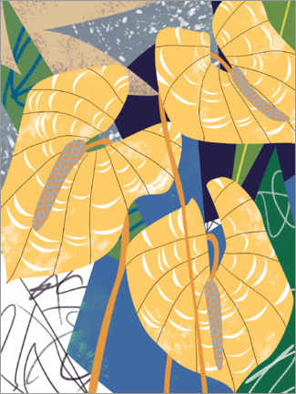 Canvas print  Pointed leaves in the wind - Melissa Wang