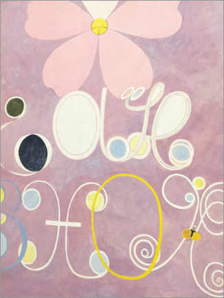 Foam board print  The Ten Largest, No. 5, Adulthood - Hilma af Klint
