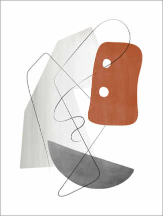 Premium poster Abstract Composition XV