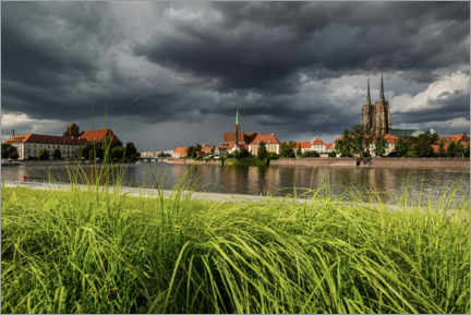 Premium poster View of the cathedral island, Wroclaw