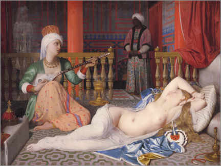 Acrylic print  Odalisque with a slave - Jean Auguste Dominique Ingres