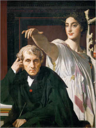 Acrylic print  Cherubini and the Muse - Jean Auguste Dominique Ingres