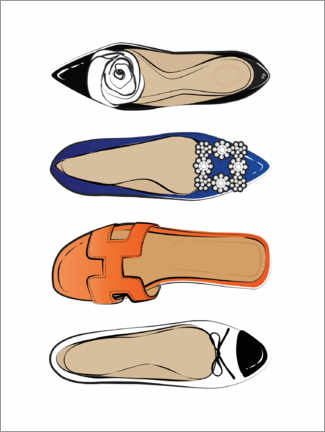 Acrylic print  Luxury shoes - Martina illustration