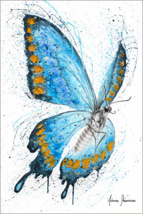 Acrylic print  The morning butterfly - Ashvin Harrison