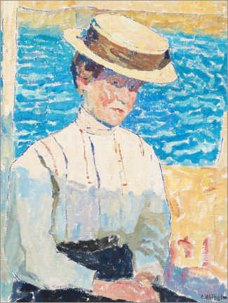 Premium poster  Mother of the board woman in the fishing village of Ljungkile - Carl Wilhelm Wilhelmson