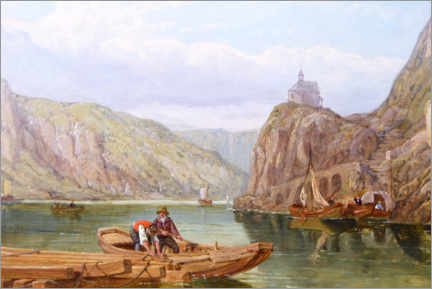 Canvas print  Cochem on the Moselle - George Clarkson Stanfield