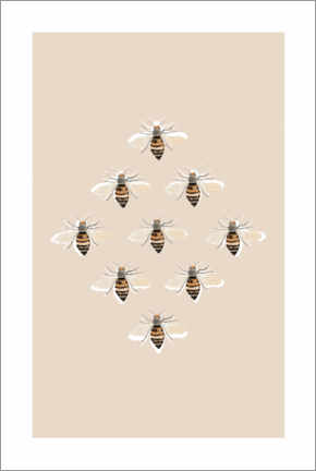 Canvas print  Bees I - Mantika Studio
