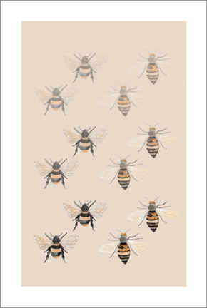Canvas print  Bees II - Mantika Studio