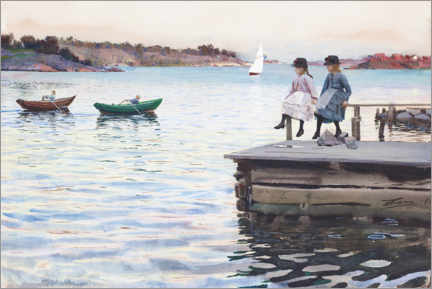 Canvas print  Boat race - Anders Leonard Zorn