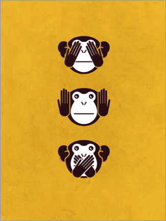 Canvas print  The Three Monkeys