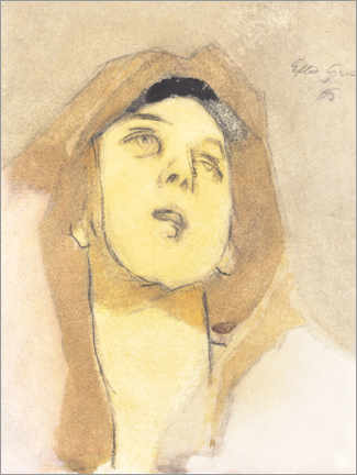 Acrylic print  Immaculate Madonna - Helene Schjerfbeck