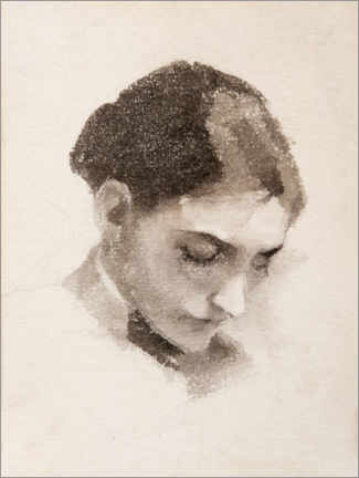 Premium poster Portrait of a woman