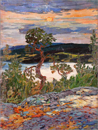 Acrylic print  Evening in Ångerman - Helmer Osslund