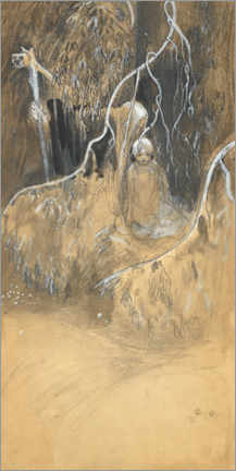 Acrylic print  Study for In the forest - John Bauer