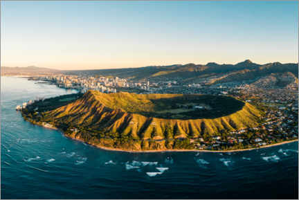 Premium poster  Diamond Head crater in Honolulu, Hawaii - Road To Aloha