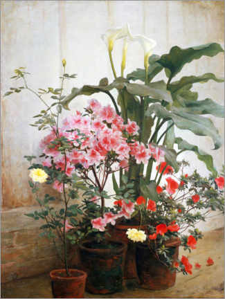 Canvas print  Side of a greenhouse - George Cochran Lambdin
