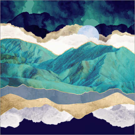 Wall sticker  Teal Mountains - SpaceFrog Designs