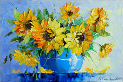 Canvas print  Bouquet of sunflowers - Olha Darchuk
