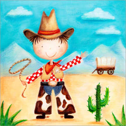 Premium poster  Little cowboy - Ileana Oakely
