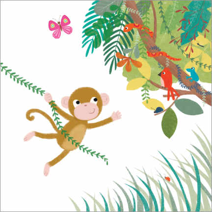 Canvas print  Monkey swing - Lucy Barnard