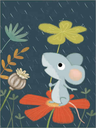 Premium poster Mouse in April weather
