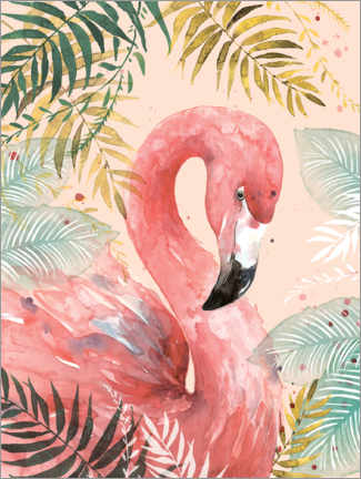 Premium poster  Flamingo in the jungle - Di Brookes