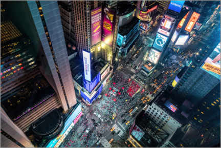 Acrylic print  Aerial view of Times Square in New York - Mike Centioli