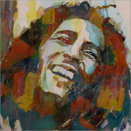 Wood print  Bob Marley - Paul Lovering