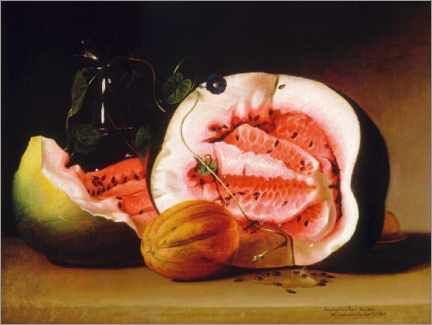 Canvas print  Melons and Morning Glories - Raphaelle Peale