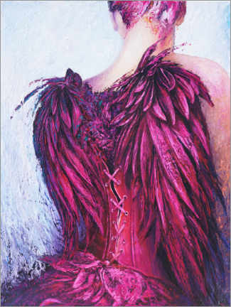 Foam board print  Purple Angel - Renate Berghaus