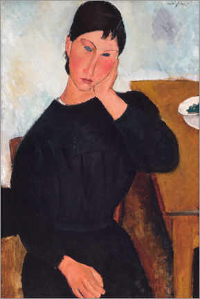 Acrylic print  Elvira is resting at a table - Amedeo Modigliani