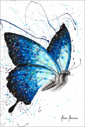 Premium poster Blue Freedom Butterfly