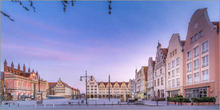 Wood print  New market with town hall, Rostock - Dirk Petersen