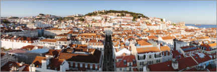 Wood print  The roofs of Lisbon, Portugal - Matteo Colombo