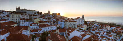 Premium poster  Sunrise over Lisbon, Portugal - Matteo Colombo