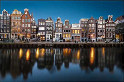 Acrylic print  Beautiful houses in Amsterdam, Holland - George Pachantouris