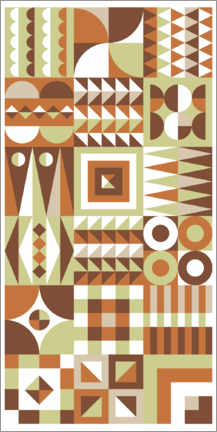 Wood print  Patchwork one - Thomas Marutschke
