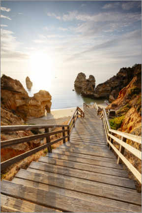 Premium poster  To the beach, Algarve, Portugal - Matteo Colombo
