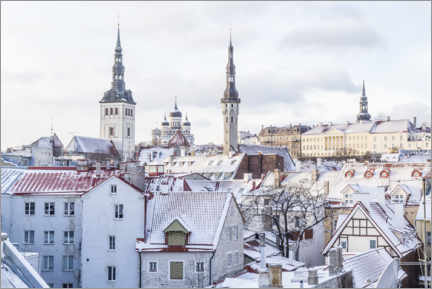 Premium poster  Views of the Tallinn Skyline in the Winter - Mike Clegg Photography