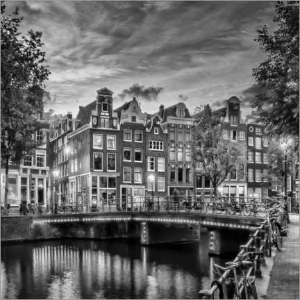 Canvas print  Evening idyll on the Singel - Melanie Viola