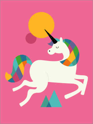 Premium poster  To Be A Unicorn - Andy Westface