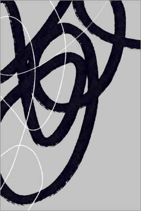 Premium poster Abstract Brush Strokes 33