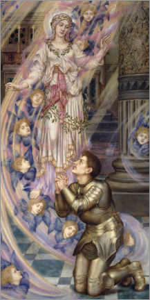 Premium poster  Our Lady of Peace - Evelyn De Morgan